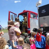 fire truck and kids